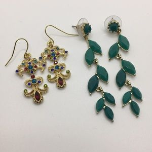 Two Pairs of Statement Earrings